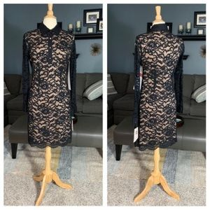 New Ivanka Trump Long-sleeve Lace Dress
